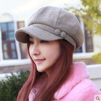 户外新款帽子 女韩版休闲时尚简约八角帽画家帽大码帽女士鸭舌帽帽妈妈帽