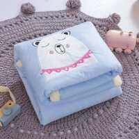 新款冬天加绒保暖婴儿新生宝宝盖被小毛毯子儿童小被子秋冬季加厚