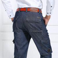 939秋装新款战地吉普AFS JEEP多口袋牛仔长裤 男士多兜牛仔大袋裤