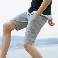 千喜步步高2020新款夏季休闲裤冰感短裤男士夏天青少年宽松五分裤