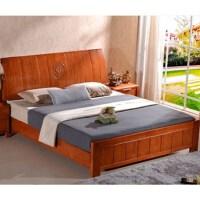 鑫宣美XM-C027中式橡木实木床含2个床头柜席梦思床垫
