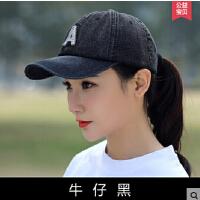 韩版 潮时尚牛仔帽子女女生春季平顶帽棒球帽鸭舌帽休闲遮阳帽