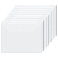 广博(GuangBo)10只装A4透明按扣文件袋资料袋档案袋/办公用品 A6321