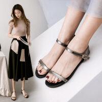 O'SHELL欧希尔新品057-1678韩版平底鞋女士凉鞋