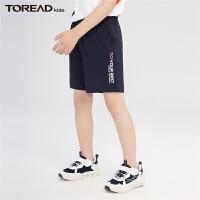【1件4折价:55元】探路者童装 2021夏新品插袋设计男童休闲短裤QAMJ83151