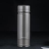 希诺不锈钢保温杯男女便携直身水杯个性时尚复古商务杯子350ml