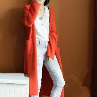??反季秋冬新款羊绒大衣女中长款加厚宽松毛衣外套针织开衫外搭