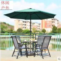 时尚简约户外休闲新款桌椅铁艺椅子室外花园庭院阳台家具套件折叠三五件套组合