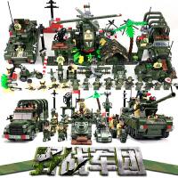 兼容乐高启蒙军事拼装积木飞机坦克火箭炮哨站载兵车儿童益智玩具