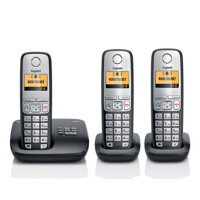 Gigaset集怡嘉【西门子】C510A德国 数字无绳电话机带答录通话录音1拖2 1拖3