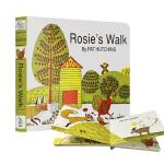【中商原版】英文原版 Rosie's Rosies Walk 母鸡萝丝去散步 英文儿童绘本Pat Hutchins 廖