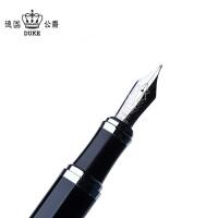 德国公爵D2纯黑银夹钢笔/墨水笔