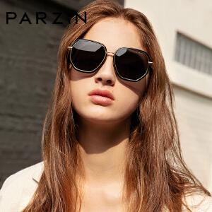 帕森偏光太阳镜  女士时尚潮流多边形大框彩膜墨镜9910