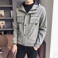 秋款男士工装连帽外套帅气学生休闲韩版潮流夹克