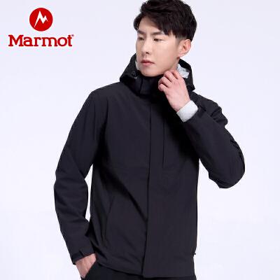 Marmot/土拨鼠2020户外运动防泼水透气男士冲锋衣 VIP专享96折