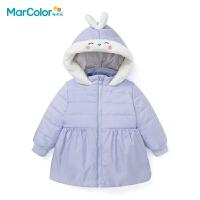 巴拉巴拉旗下马卡乐童装冬新品女童立体棉服可爱图案厚外套