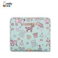 米菲迷你口袋钱包短款女士学生薄款折叠韩版小钱夹皮夹可爱零钱包