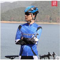骑行服长袖套装 骑行长裤自行车服纵横男款  可礼品卡支付