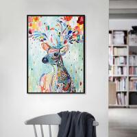 菲绣绣艺 diy手绘自助油画   彩绘小鹿 客厅风景花卉动漫人物填色手绘装饰画