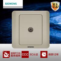 Siemens/西门子开关开关面板西门子开关插座远景系列金棕一位电视插座面板