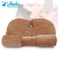 颈椎枕头护颈枕单人圆形糖果枕午睡保健脊椎成人荞麦壳枕芯