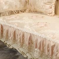 布艺沙发垫欧式皮防滑蕾丝全盖坐垫靠背巾沙发套四季通用