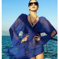 原创性感防晒隔热速干 比基尼泳衣罩衫女旅游度假长袖防�鹑� 轻便沙滩开衫外套 支持礼品卡