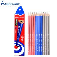 马可MARCO 书写铅笔 9002 三角学生铅笔 2H HB 2B 书写铅笔 1/盒(12支)