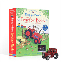 Usborne系列 英文原版 FYT POPPY AND SAM'S WIND-UP TRACTOR BOOK 上发条