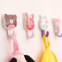 韩国家居收纳可爱动物卡通挂钩 创意时尚无痕粘钩2个装