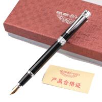 正品 HERO英雄钢笔 英雄1316纯黑银夹铱金笔 墨水笔 书法练字钢笔