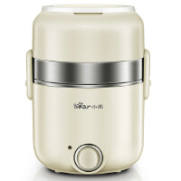 小熊(Bear)双层电热饭盒 可插电饭盒加热保温饭盒预约定时迷你煮饭蒸饭器 DFH-B15J1