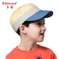 kenmont帽子 春夏儿童帽 棒球帽 短檐可爱遮阳帽  帽围54cm 0582