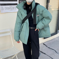 羽绒服短款女学生棉衣2021年冬季新款小个子立领情侣棉服外套