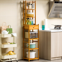 老睢坊 厨房置物架夹缝间隙收纳储物角架蔬菜筐家用落地多层省空间