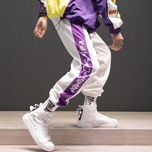 【超划算】ins超火的裤子国潮嘻哈宽松运动速干裤潮秋冬