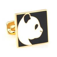 中国元素 熊猫 袖扣男法式袖钉