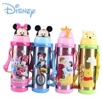 迪士尼儿童保温杯 米奇不锈钢带吸管杯子 学生水杯5752