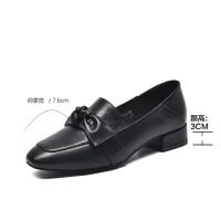 19珂卡芙新款【优雅蝴蝶结】韩版时尚潮流女鞋方头粗跟女单鞋