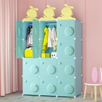 老睢坊 衣柜简易布艺简约现代经济型宝宝儿童柜子储物卧室组装婴儿小衣橱
