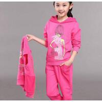 儿童运动三件套装童装女童休闲百搭户外新款韩版时尚女大童小孩衣服