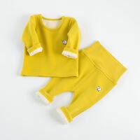 婴儿保暖套装秋冬女高腰加厚装 0-1-2-3岁纯棉男宝宝加绒内衣睡衣SLC-031