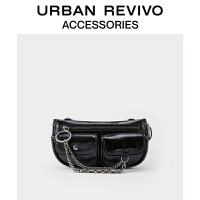 URBAN REVIVO2021春夏新品女士配件时尚潮酷机能腰包AY20TB8N2000