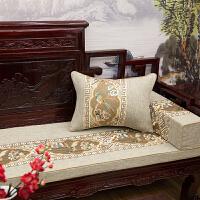 中式红木沙发坐垫 花鸟刺绣坐垫海绵靠垫抱枕实木圈椅罗汉床定制 灰色 喜上梅梢