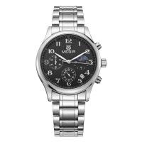 男士手表 新款多功能男士手表 钢带夜光日历男表手表