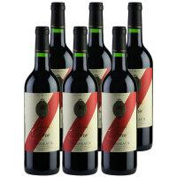 酒美网 红酒 法国原瓶花色天堂波尔多2011干红葡萄酒六支装 整箱