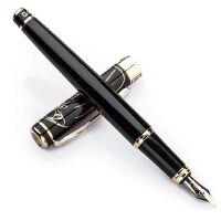 英雄钢笔 1078大鹏展翅黑丽雅金夹 铱金笔