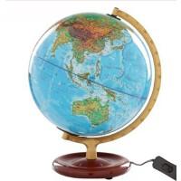 地球仪 博目地球仪 25cm 高清 中英文地名 灯光 地形地理教学2013