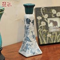 墨菲 欧式时尚创意陶瓷烛台复古家居装饰工艺摆件现代简约烛台