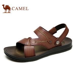 camel骆驼男鞋 新款日常休闲 夏季清凉舒适牛皮凉拖鞋男
